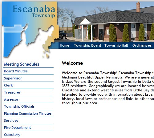 Escanaba Township Web site design