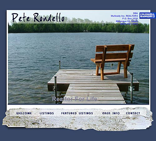Team Rondello, real estate web site design