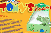 Tony's Rooms logo and brochure design
