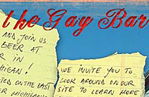 The Gay Bar web site design